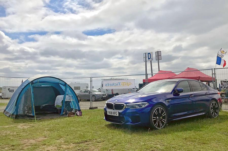 BMW M5 2018 long-term review Le Mans camping