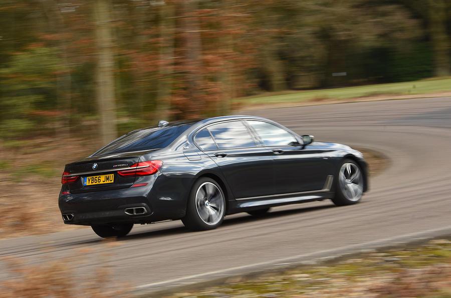 BMW M760Li xDrive rear cornering