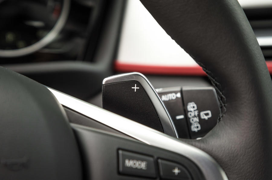 BMW X1 paddle shifters