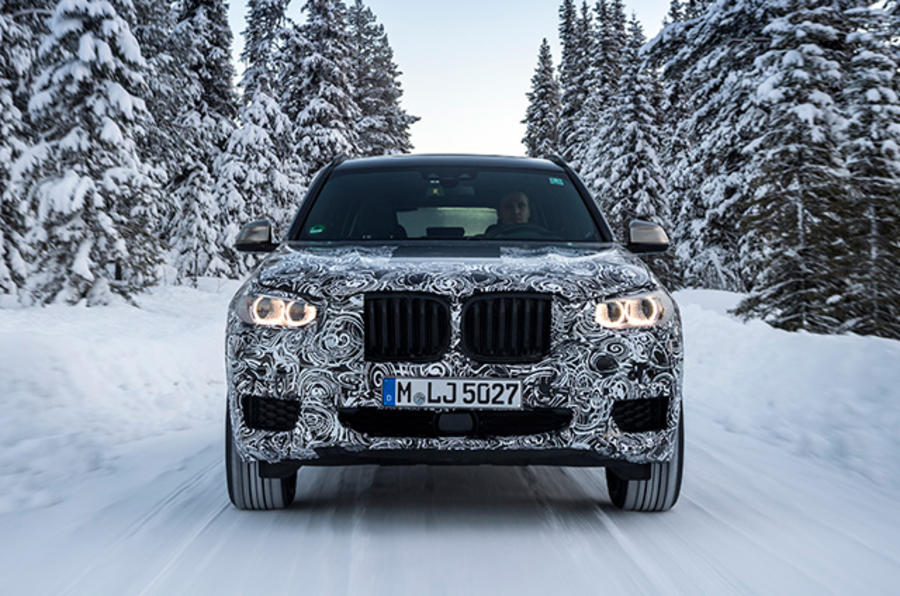 2017 BMW X3 winter testing