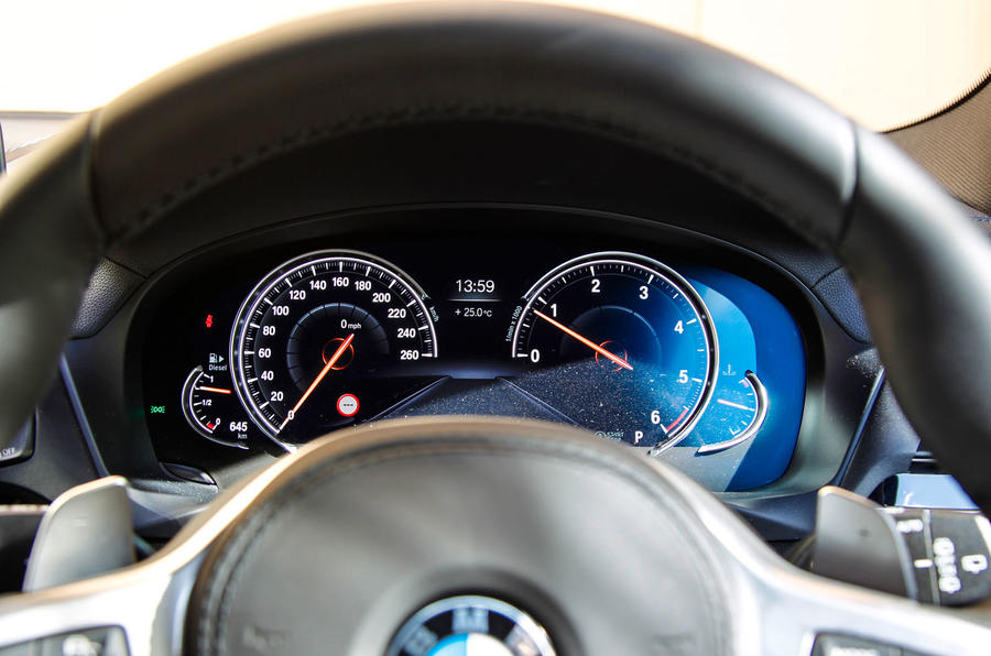BMW X3 digital instrument cluster