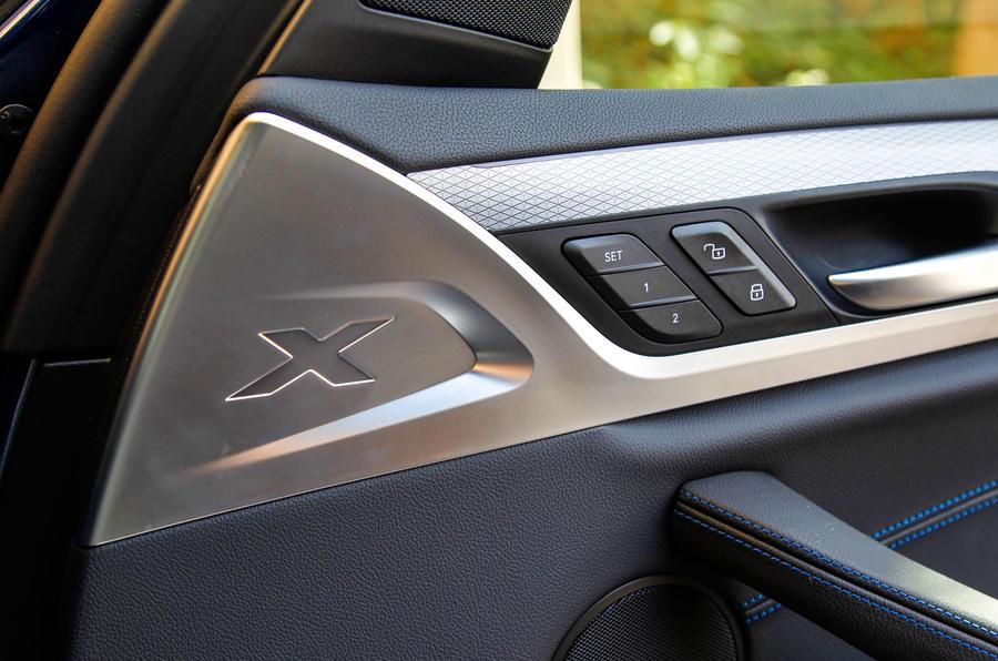 BMW X3 interior badging