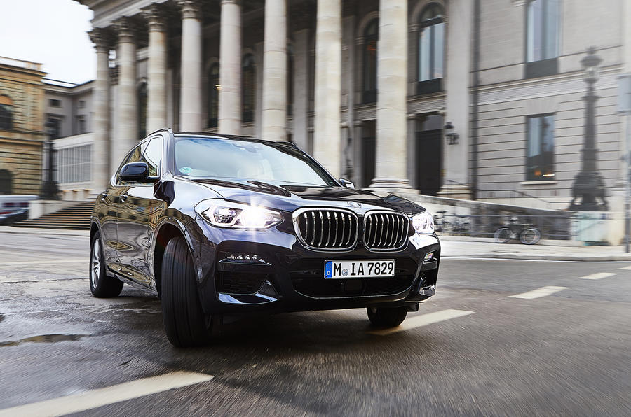 BMW X3 PHEV official press images - cornering