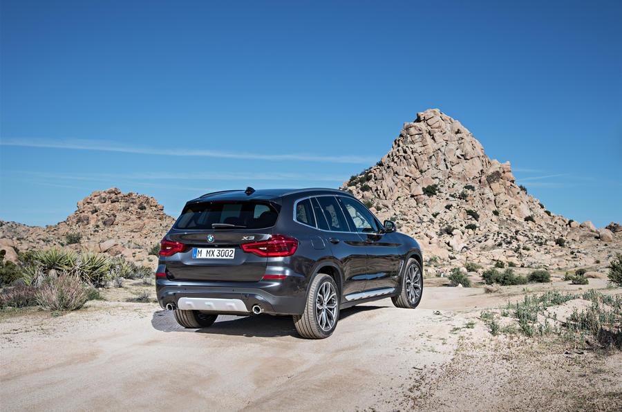 BMW X3 rear quarter
