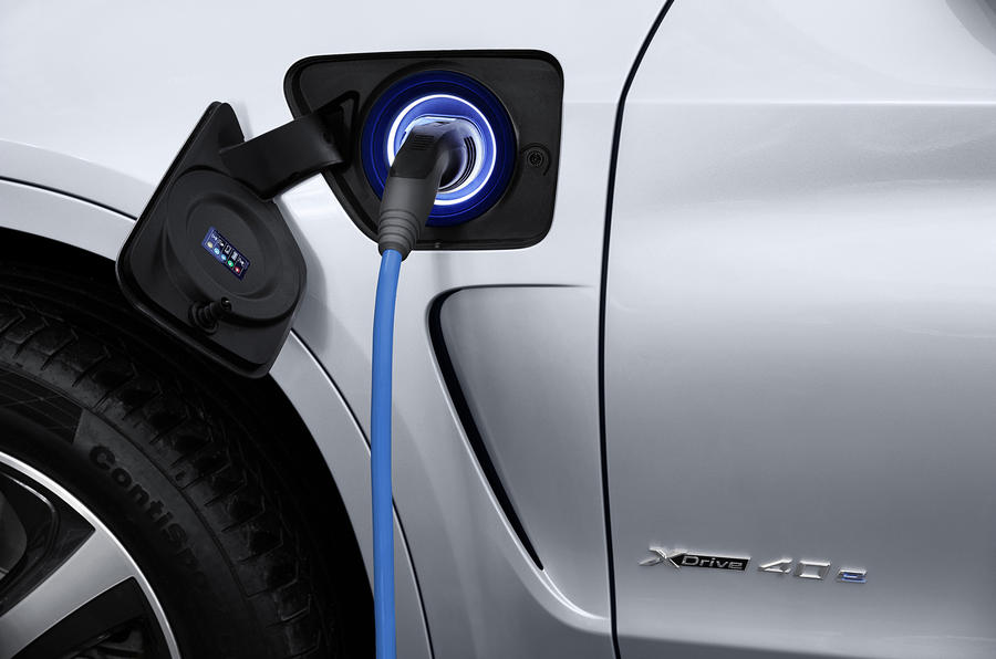 BMW X5 electric charging point