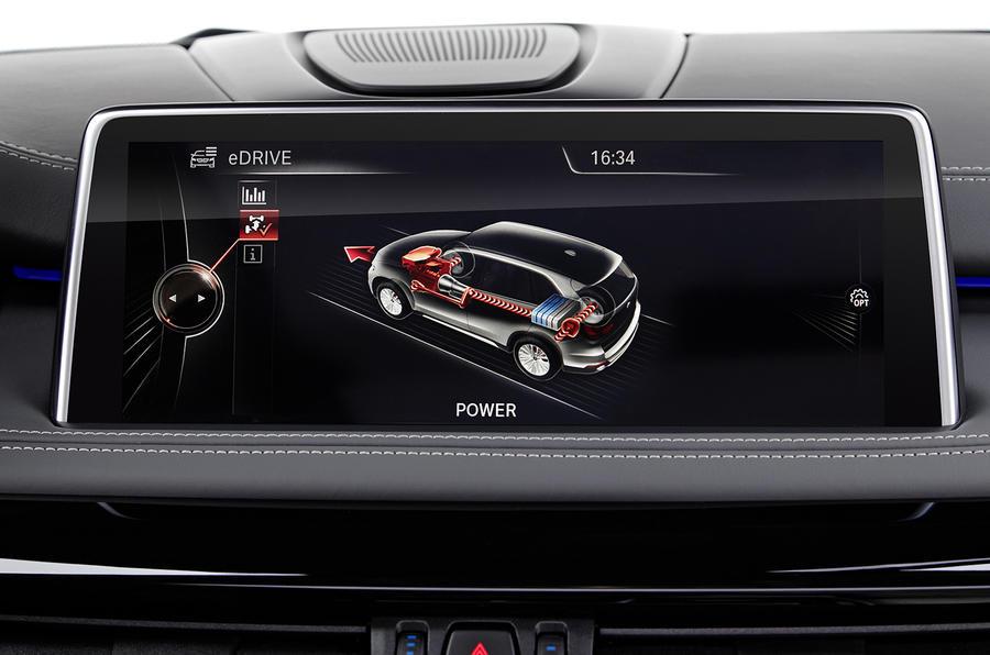 BMW X5 e-mode monitor