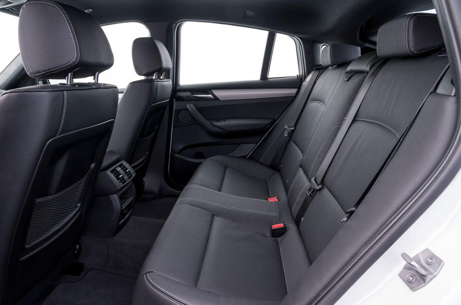 BMW X4 M40i rear seats
