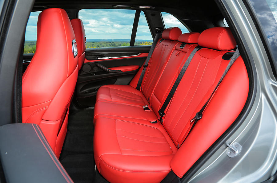 BMW X5 M rear seats