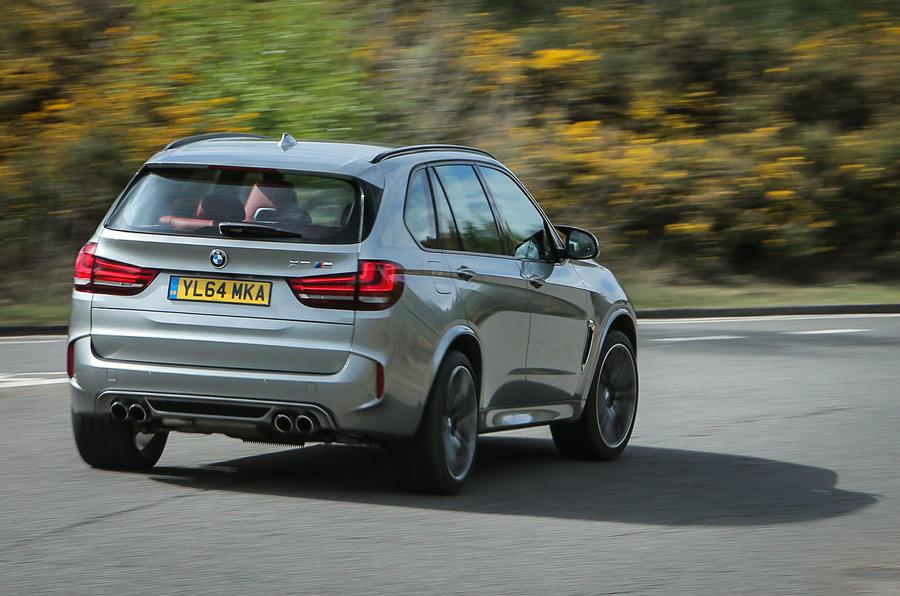 BMW X5 M rear cornering