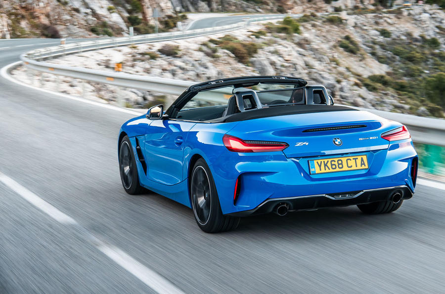 BMW Z4 sDrive20i 2019 first drive review - hero rear