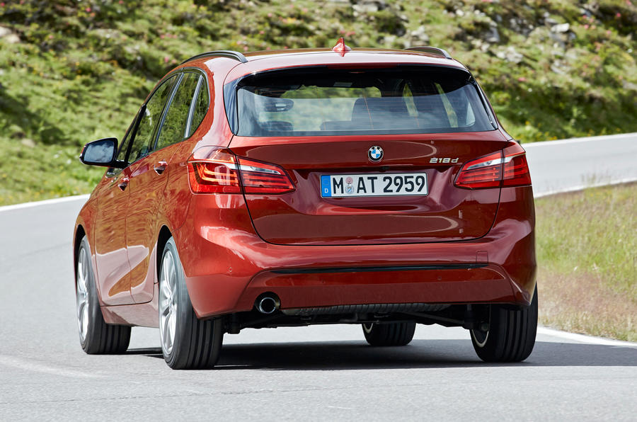 BMW 216d Active Tourer rear cornering