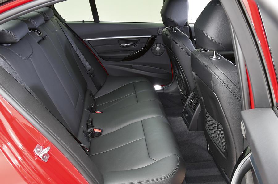 BMW 320d M Sport rear seats