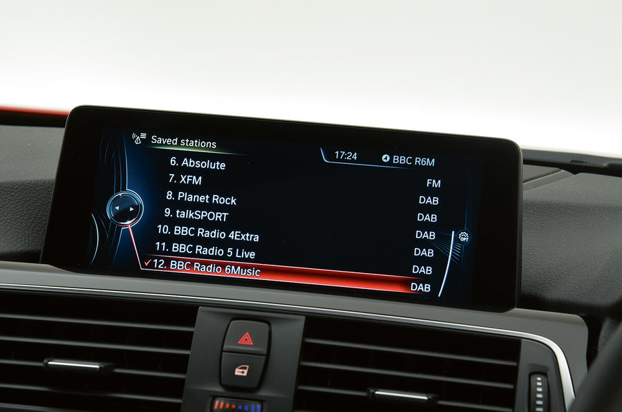 BMW iDrive DAB option