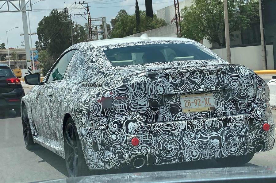 BMW 2 Series coupe spyshots  side rear