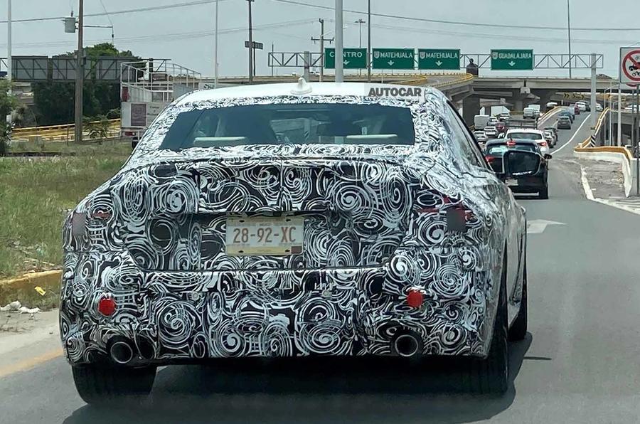 BMW 2 Series coupe spyshots rear angle