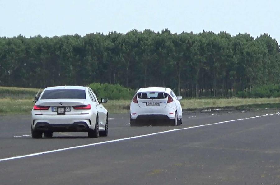 Thatcham ADAS testing rear BMW