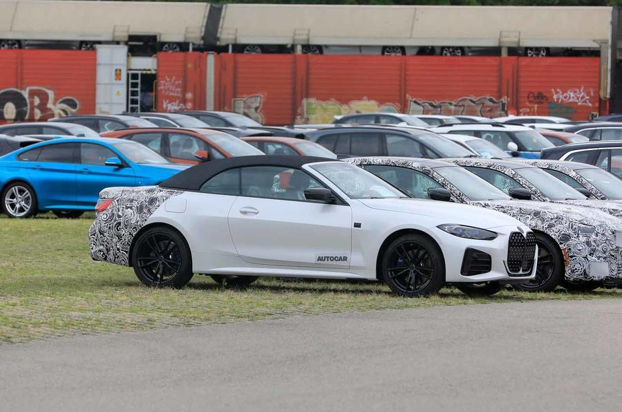 BMW 4 Series Convertible static spyshot front