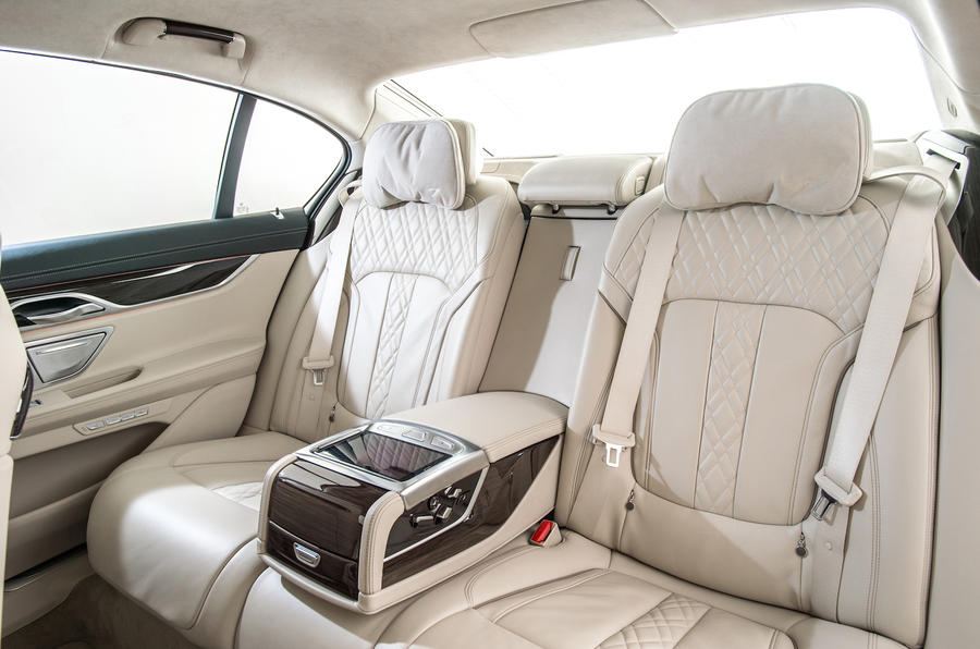 BMW 730d airline passenger seats