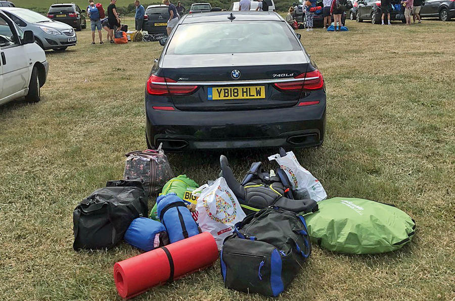 BMW 7 Series 740LD long-term review luggage