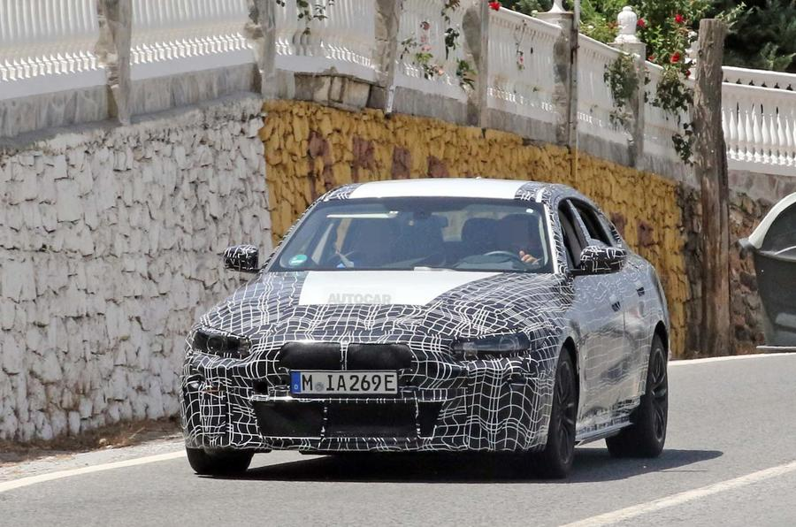 BMW i4 spy shots