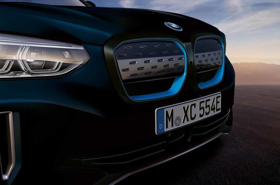 BMW iX3 black grille