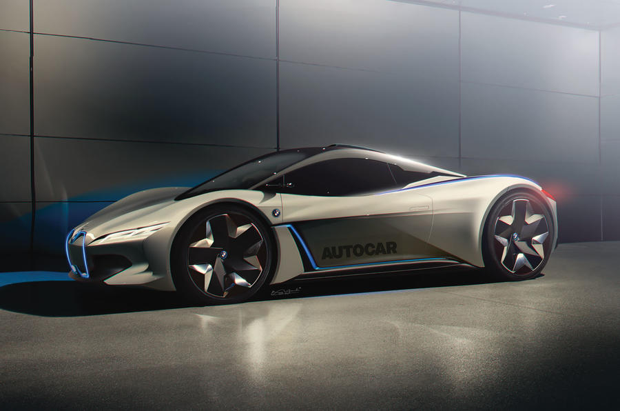 BMW hybrid supercar render