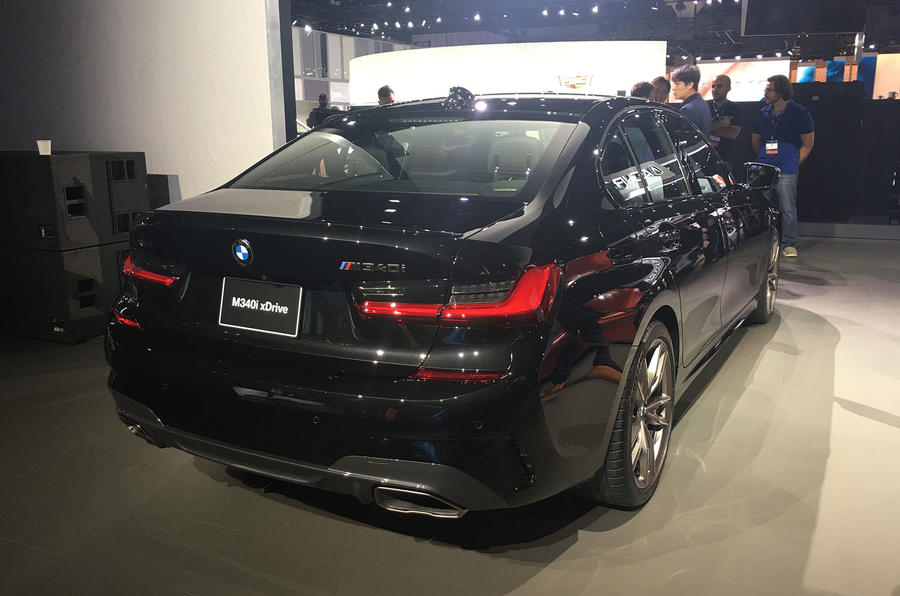 BMW M340i LA motor show reveal - rear
