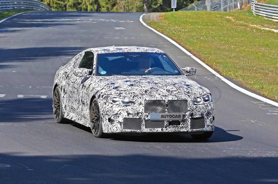 BMW M4 spyshots Nurburgring front side