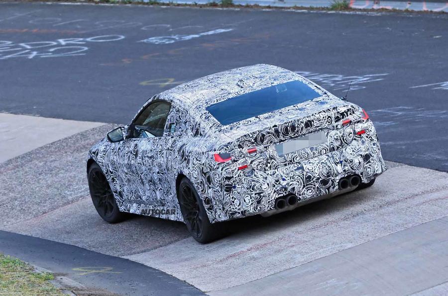 BMW M4 spyshots Nurburgring carousel rear