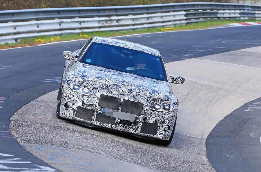 BMW M4 spyshots Nurburgring front carousel