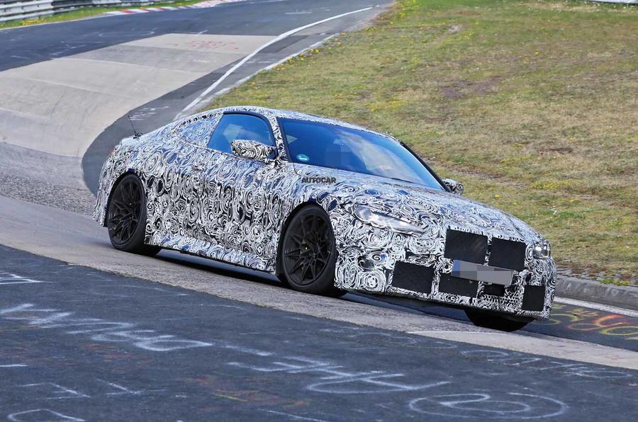 BMW M4 spyshots Nurburgring front side carousel