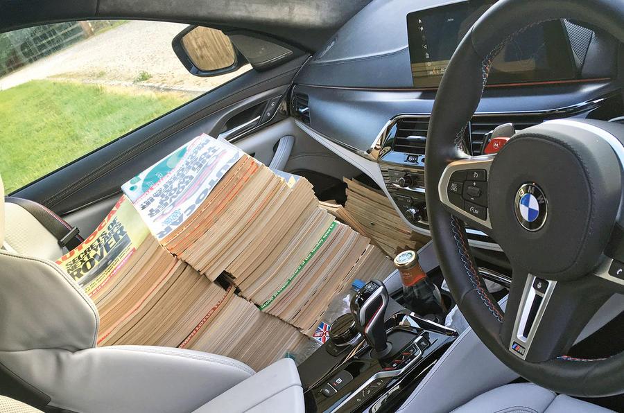 BMW M5 2018 long-term review Autocar magazines passenger seat