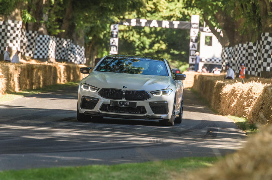 BMW M8 dynamic debut at Goodwood