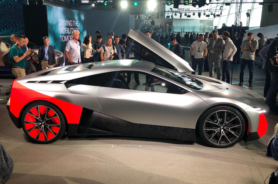 BMW Vision M next reveal side