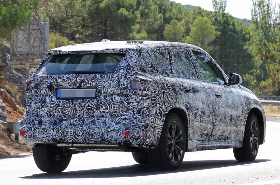 BMW X1 2022 spyshots rear