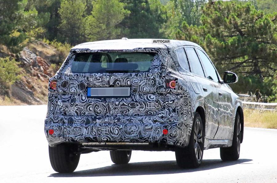 BMW X1 2022 spyshots rear close