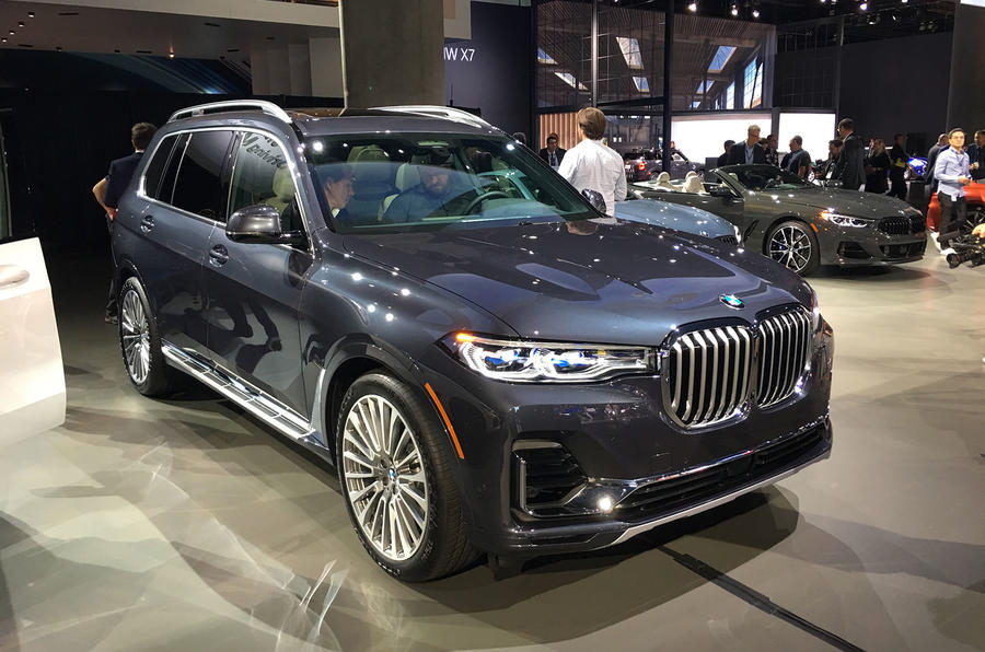 BMW X7 at the LA motor show - front