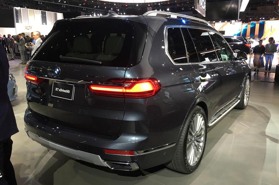 BMW X7 at the LA motor show - rear