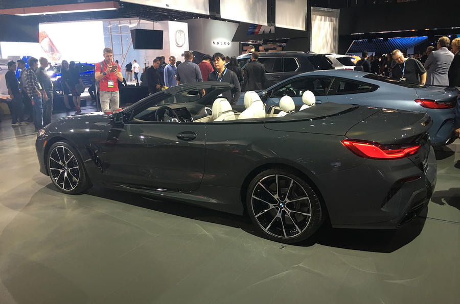 BMW 8 Series convertible at LA motor show - side