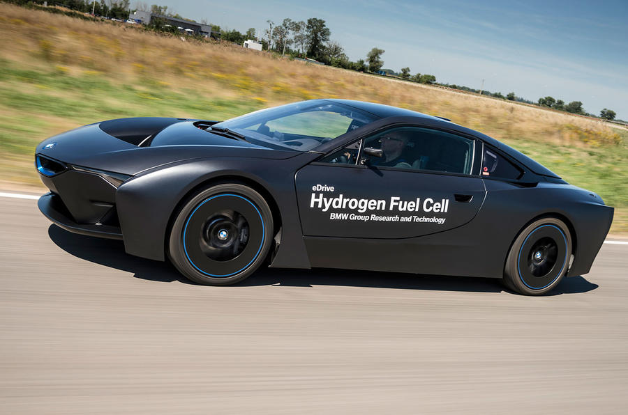 bmw reveals their radical i8 based hydrogen fuel cell powered research vehicle. Black Bedroom Furniture Sets. Home Design Ideas