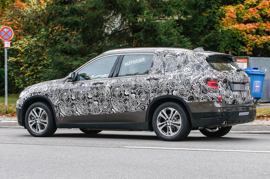 2016 bmw x1 phev spotted first spy pictures autocar. Black Bedroom Furniture Sets. Home Design Ideas