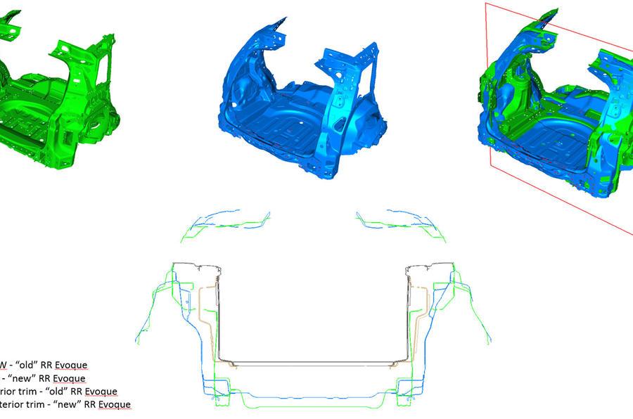 Range Rover Evoque front end CGI