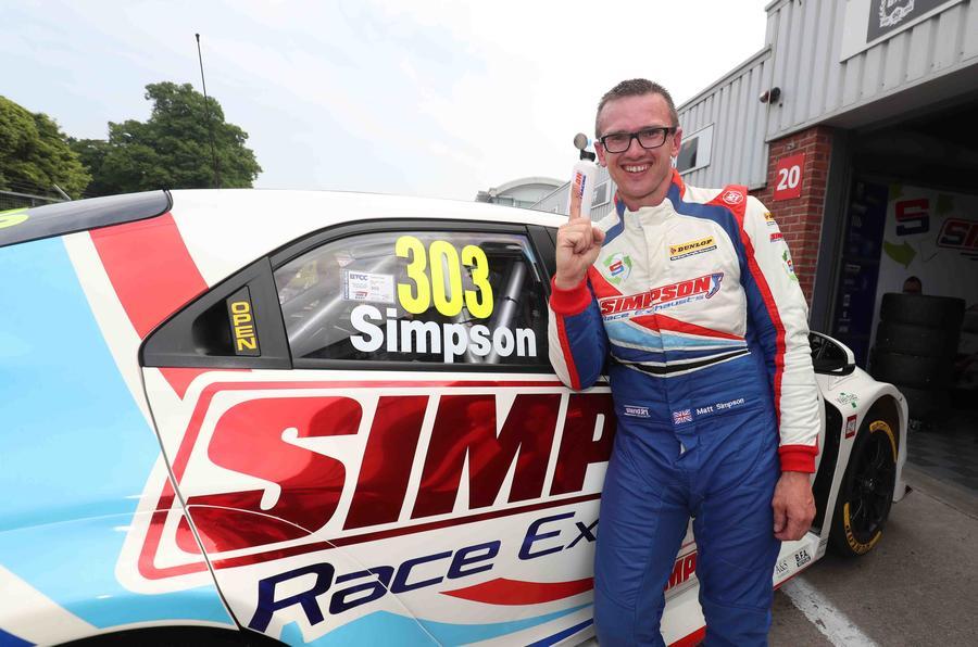 BTCC Matt Simpson Wins