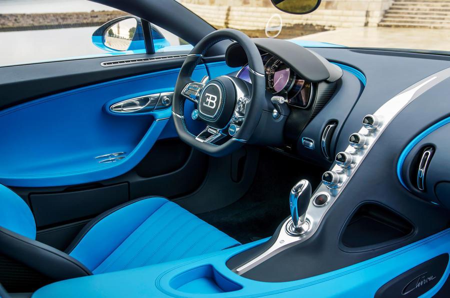 Bugatti Chiron's interior