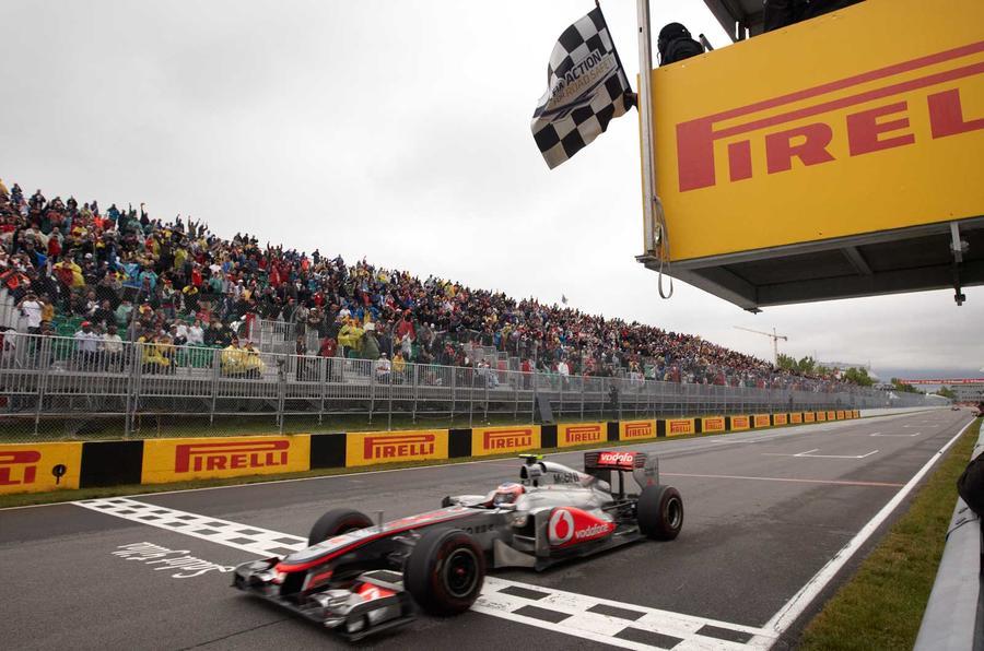 Jenson Button Canada win 2011