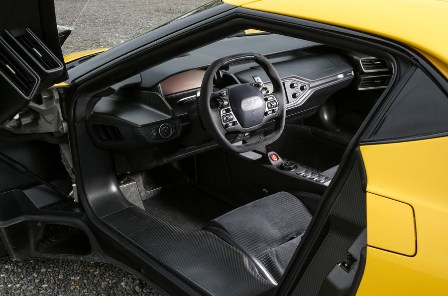 The Ford GT's interior