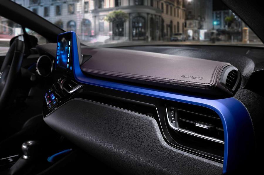 toyota  hr interior revealed autocar