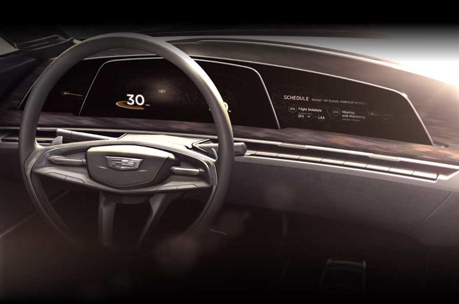 Cadillac OLED concept dash
