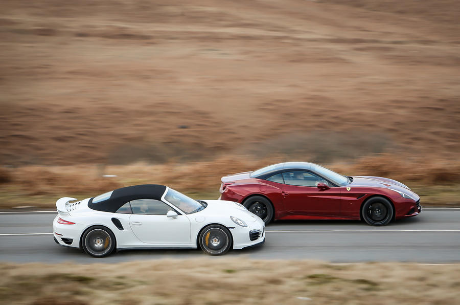 ferrari california t vs porsche 911 turbo s aston v12 vantage s autocar. Black Bedroom Furniture Sets. Home Design Ideas