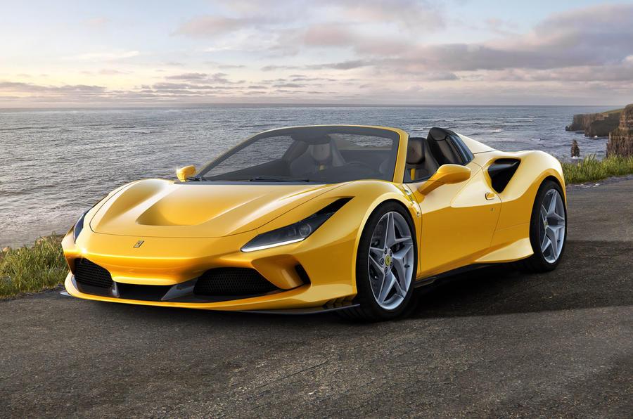 2020 Ferrari F8 Spider reveal - static front